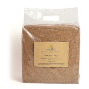 Bloque de fibra de coco 5 kg 70 litros de sustrato