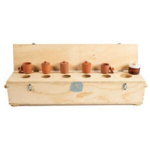 Caja de conservación del conjunto de preparados de 50 dosis para el compost