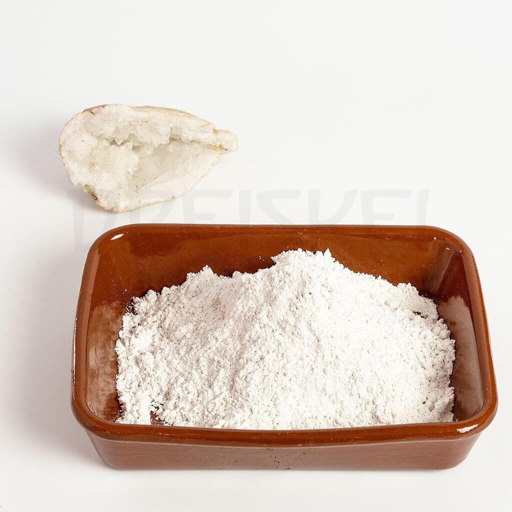 Detalle del preparado biodinámico del cuarzo molido