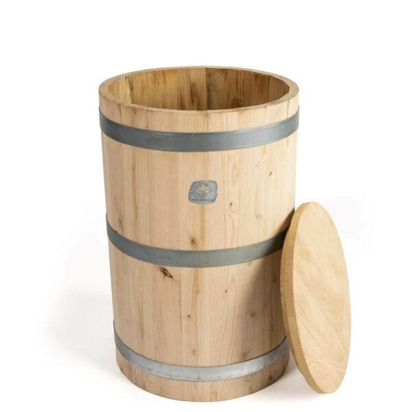Tonel de madera para la dinamización manual de 150 litros