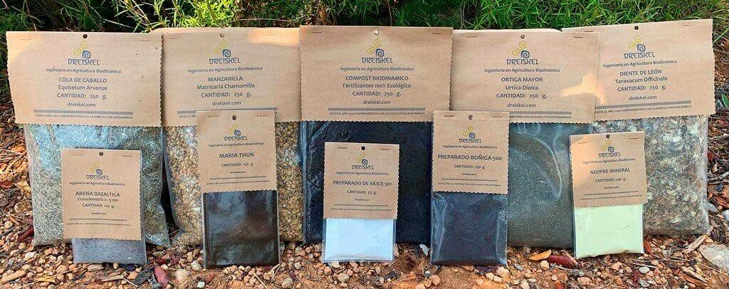 Paquetes de los preparados biodinamicos