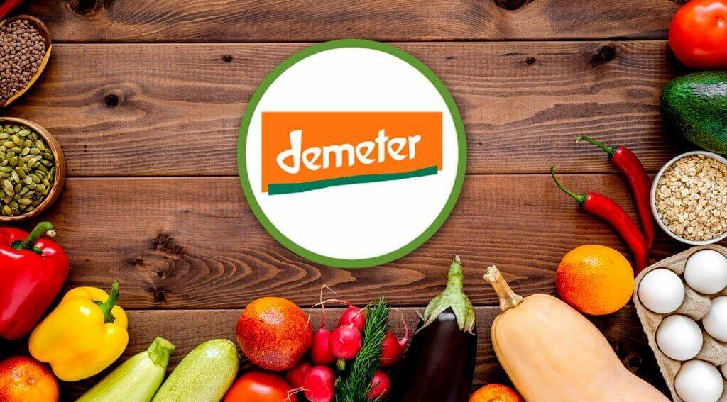 Sello Demeter para la certificación en agricultura biodinamica