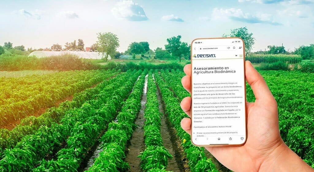 Pagina de asesoramiento en agricultura biodinamica en movil