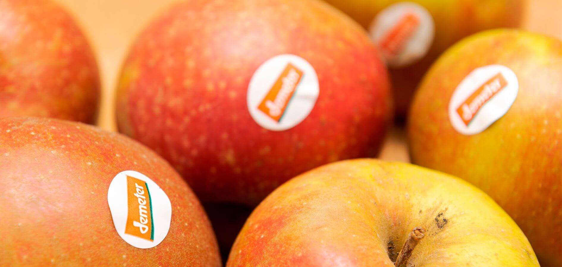 manzana con certificado demeter